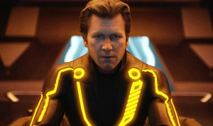 A de-aged Jeff Bridges as CLU in TRON: Legacy