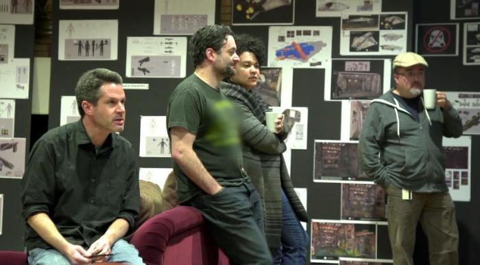 Simon Kinberg with Dave Filoni and Pablo Hidalgo