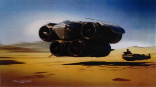 Concept Art - Pod Junker & Land Speeder