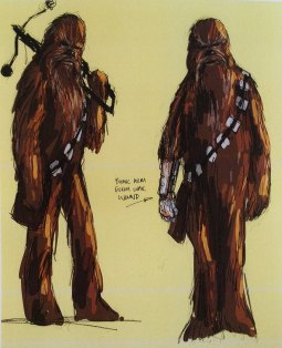 Concept Sketch - Chewbacca Cybernetic