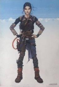 Concept Sketch - Daisy Ridley - Smuggler Gear