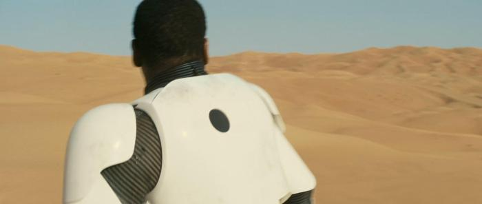 The back of Boyega's armour