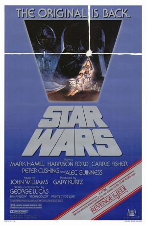The poster accompanying the 1982 re-release of Star Wars
