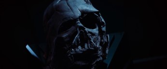 The melted helmet of Darth Vader