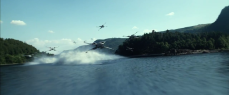 T-70 X-wings fly over the same lake as seen in teaser #1