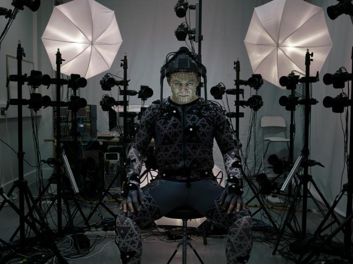 Andy Serkis playing Supreme Leader Snoke